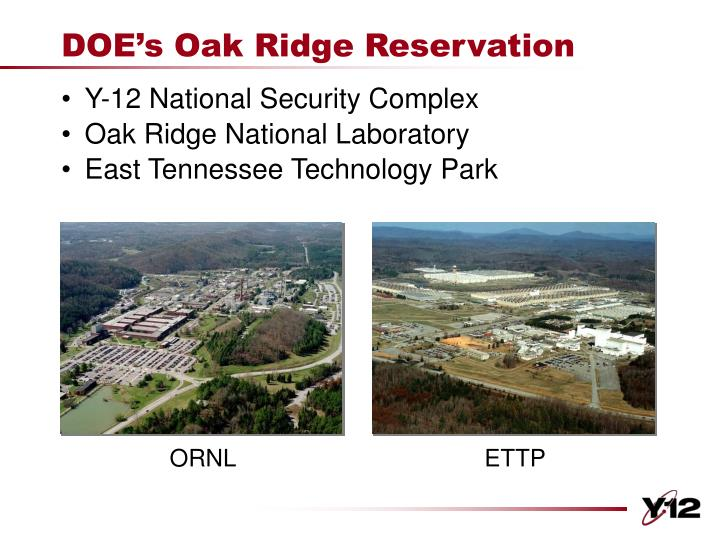 Doe s oak ridge reservation