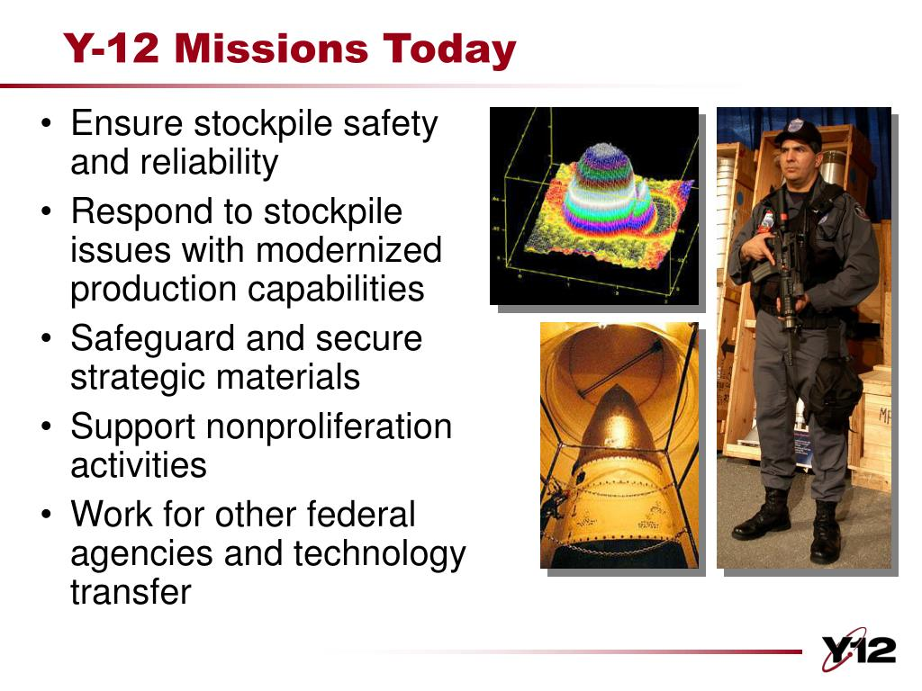 Y-12 Missions Today