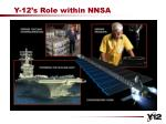 y 12 s role within nnsa