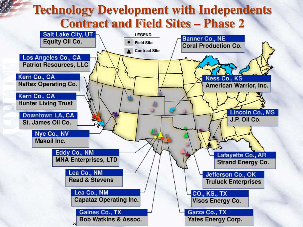 Technology Development with Independents Contract and Field Sites – Phase 2