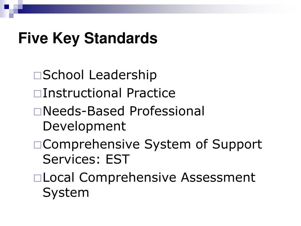 Five Key Standards