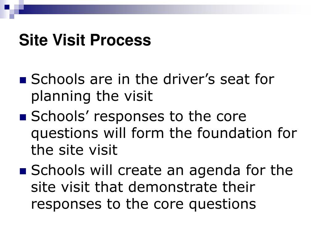 Site Visit Process