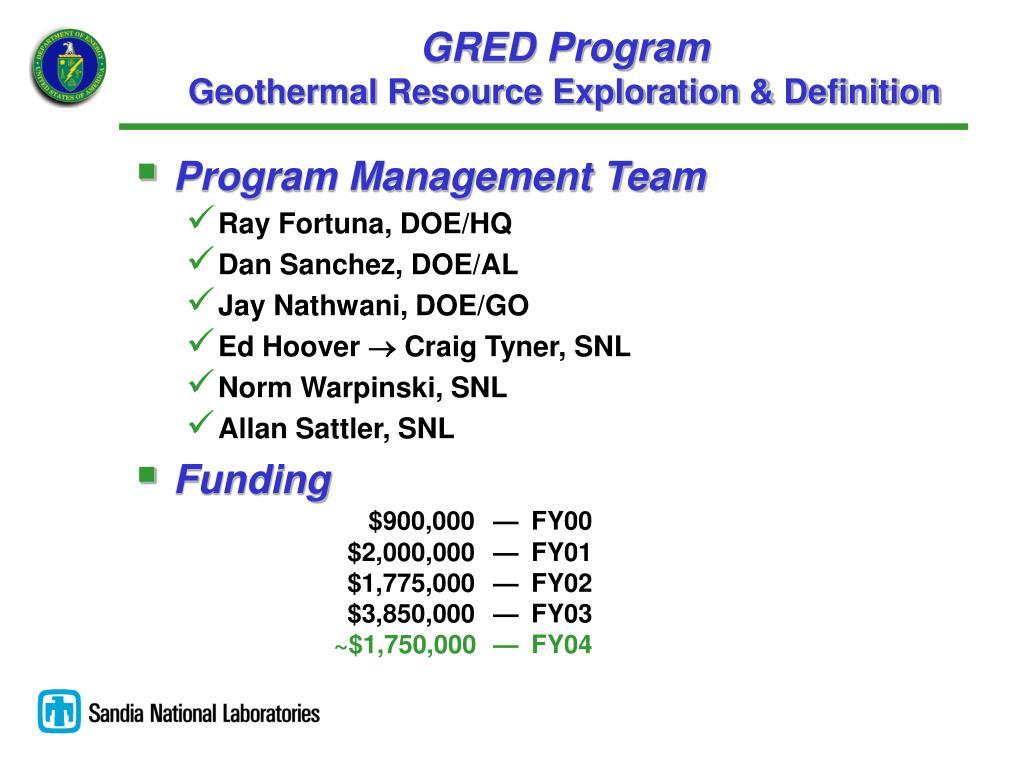 GRED Program