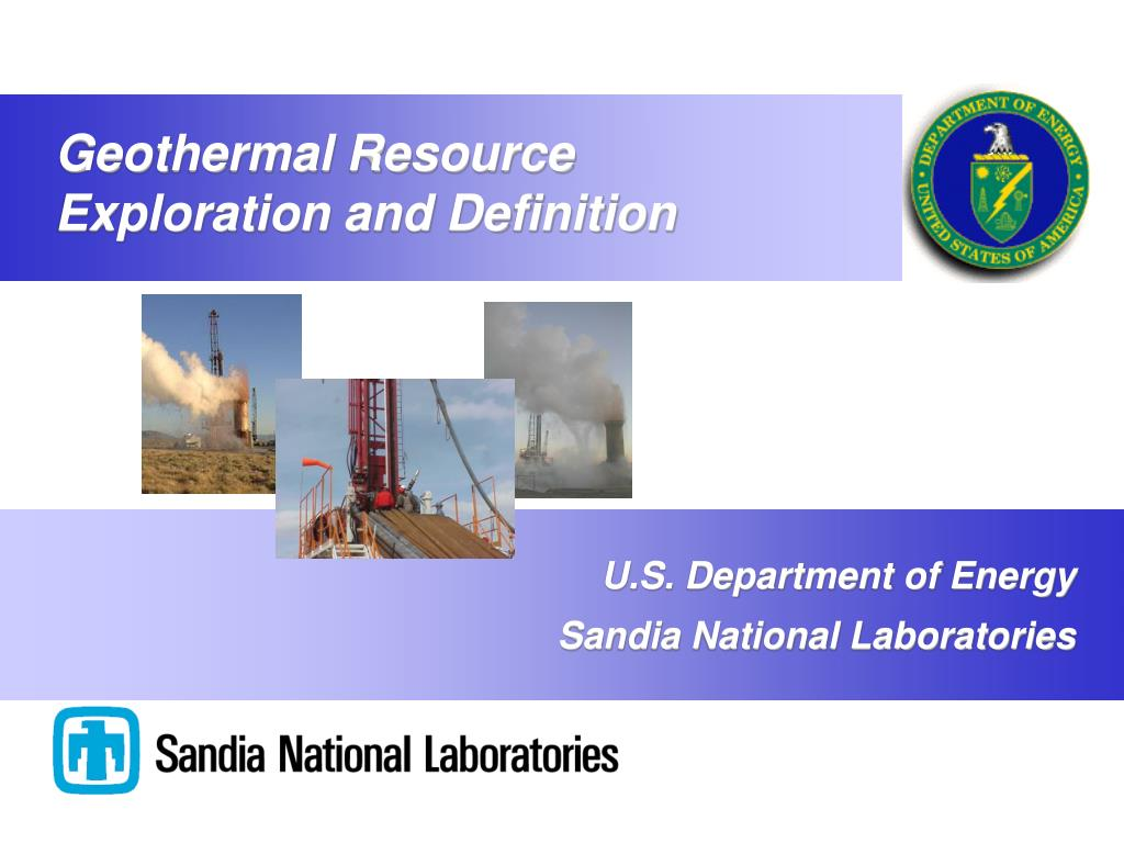 Geothermal Resource Exploration and Definition