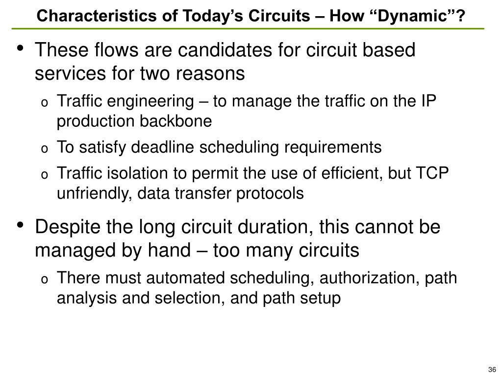 """Characteristics of Today's Circuits – How """"Dynamic""""?"""