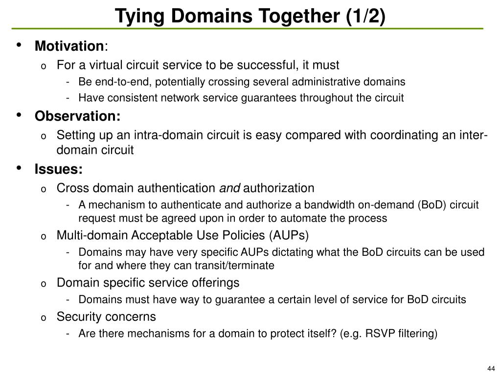Tying Domains Together (1/2)