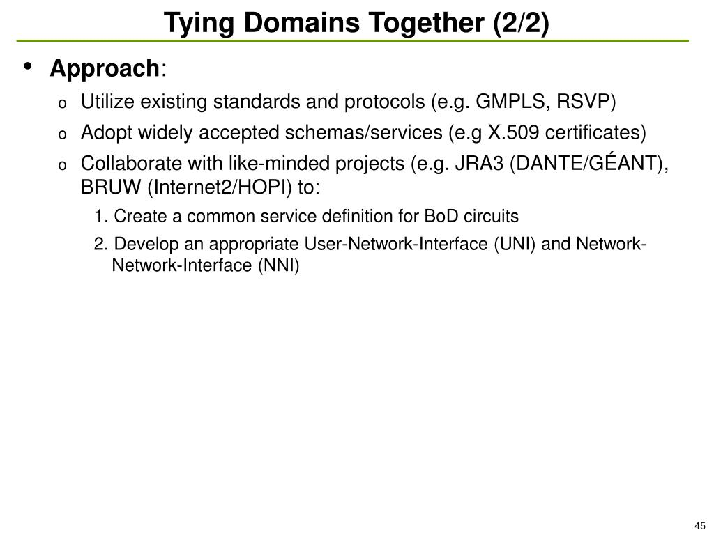 Tying Domains Together (2/2)