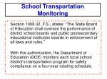 school transportation monitoring