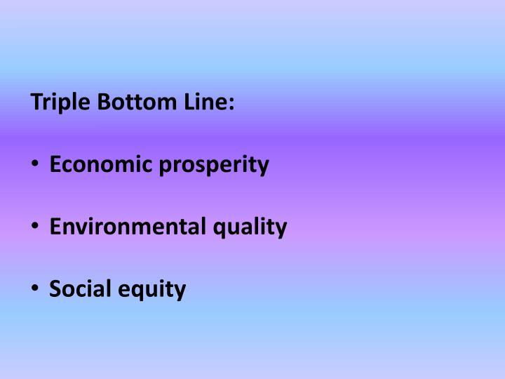 Triple Bottom Line: