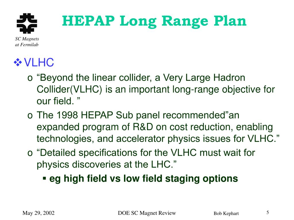 HEPAP Long Range Plan
