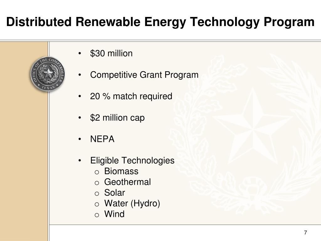 Distributed Renewable Energy Technology Program