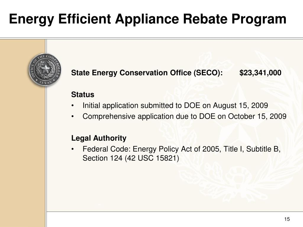 Energy Efficient Appliance Rebate Program