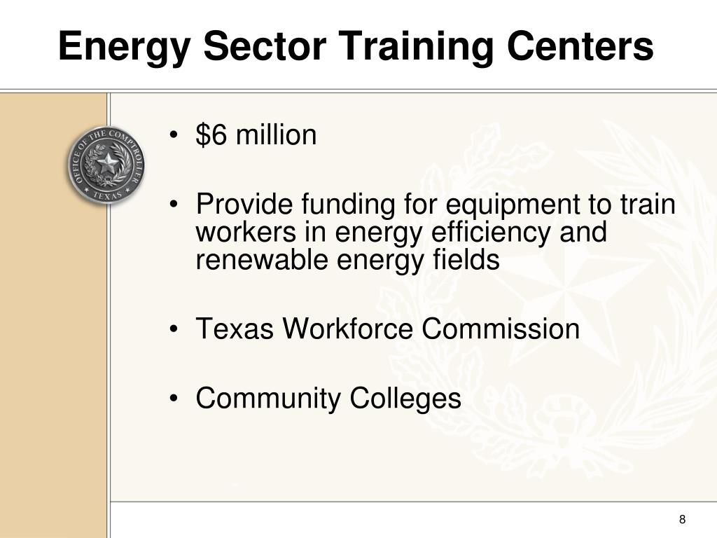 Energy Sector Training Centers