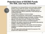potential uses of eecbg funds per doe uses may be limited