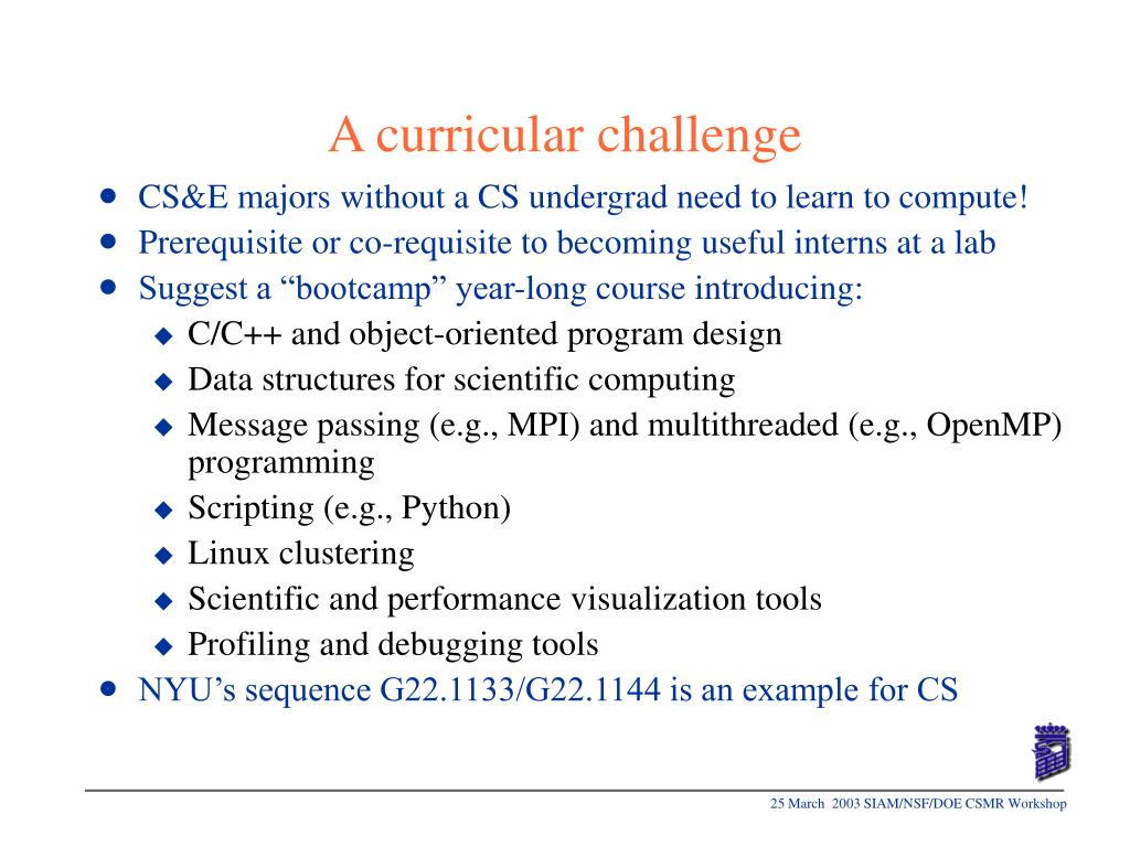 A curricular challenge