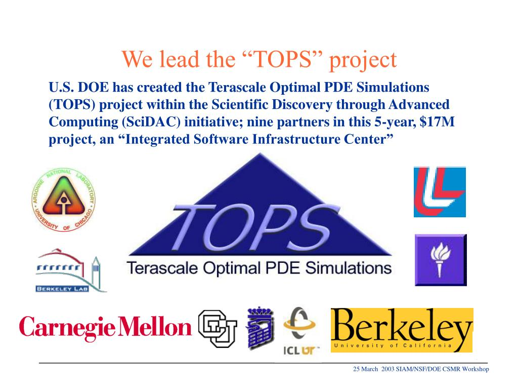"We lead the ""TOPS"" project"