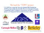 we lead the tops project