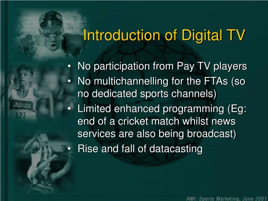 Introduction of Digital TV