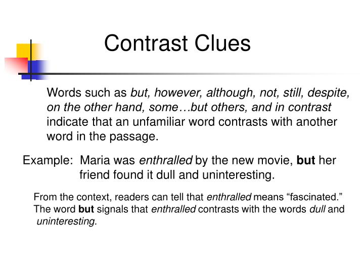 Contrast Clues
