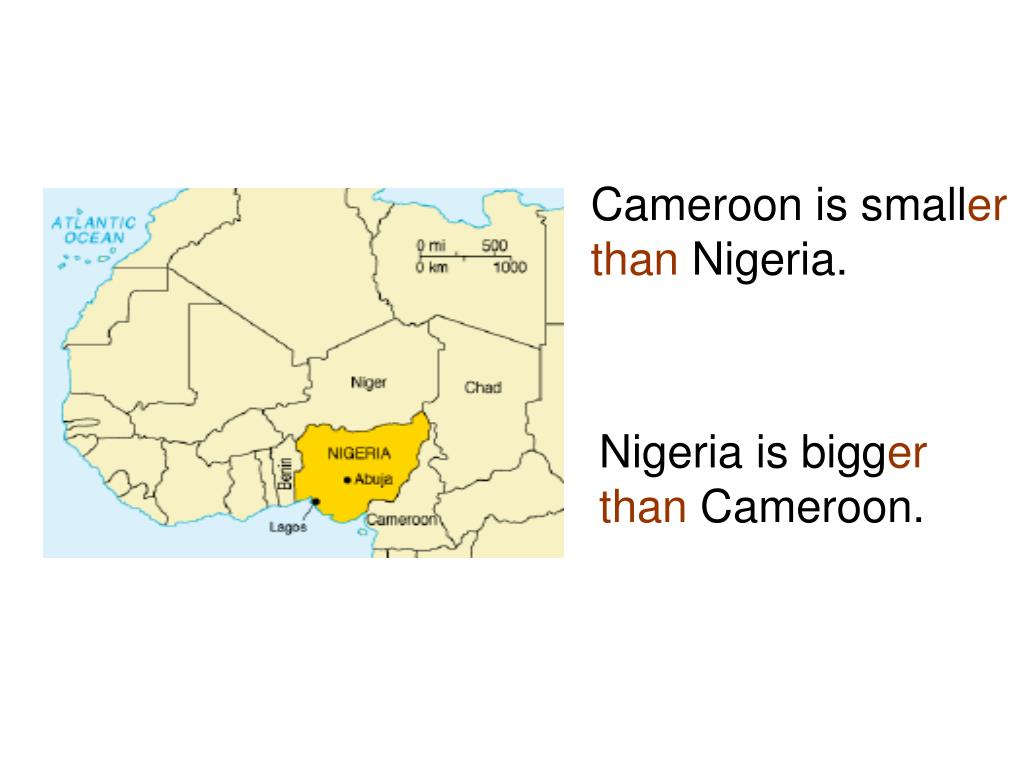 Cameroon is small