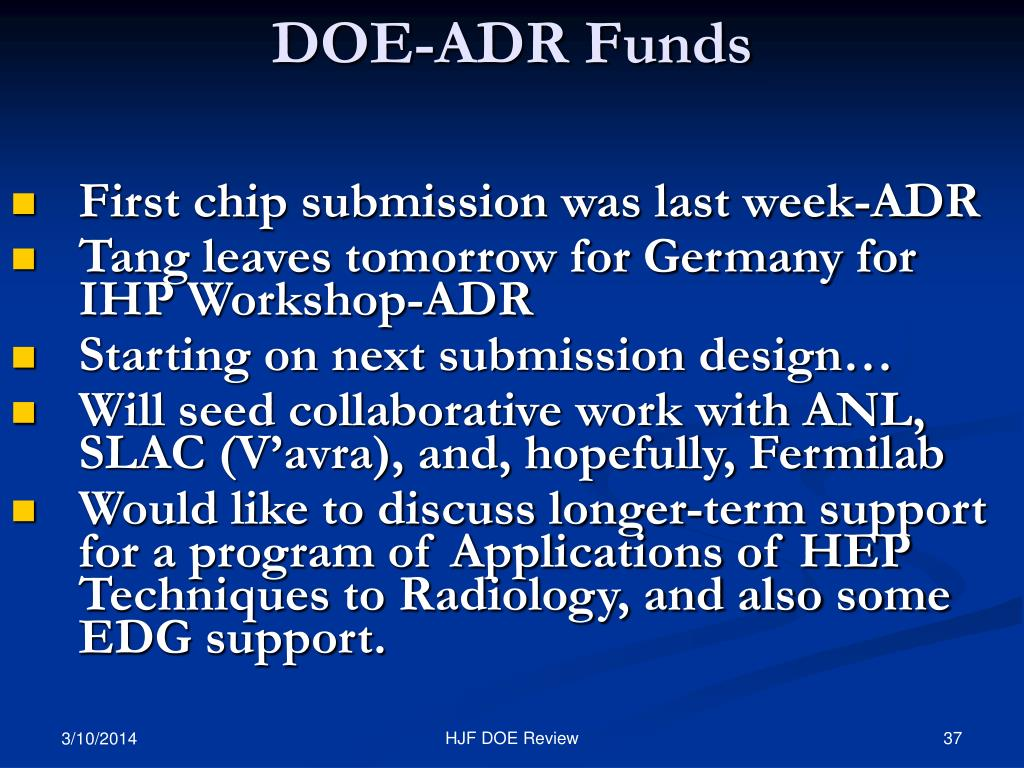 DOE-ADR Funds