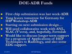 doe adr funds