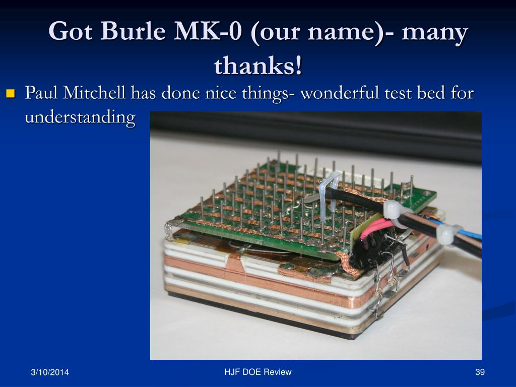 Got Burle MK-0 (our name)- many thanks!