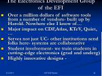 the electronics development group of the efi
