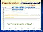 time stretcher simulation result