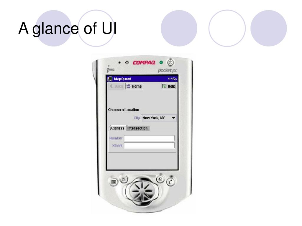 A glance of UI