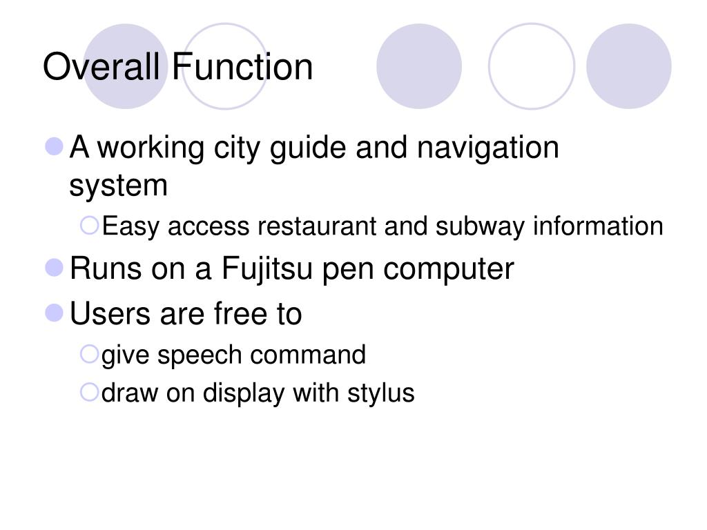 Overall Function