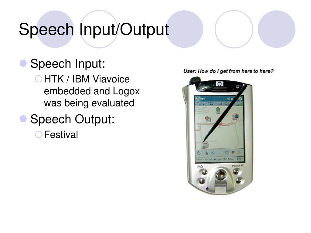 Speech Input/Output