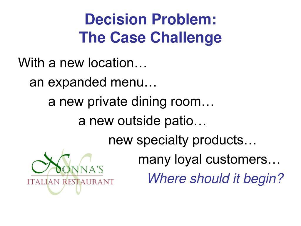 Decision Problem: