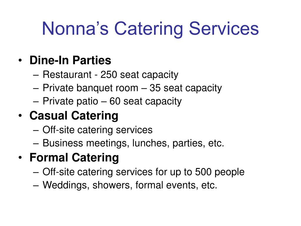 Nonna's Catering Services