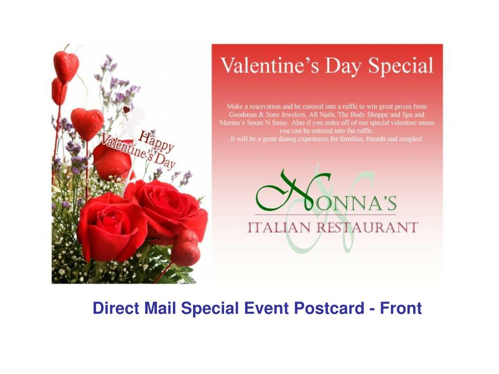 Direct Mail Special Event Postcard - Front
