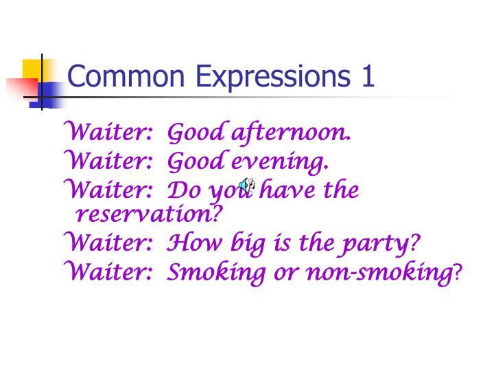 Common expressions 1