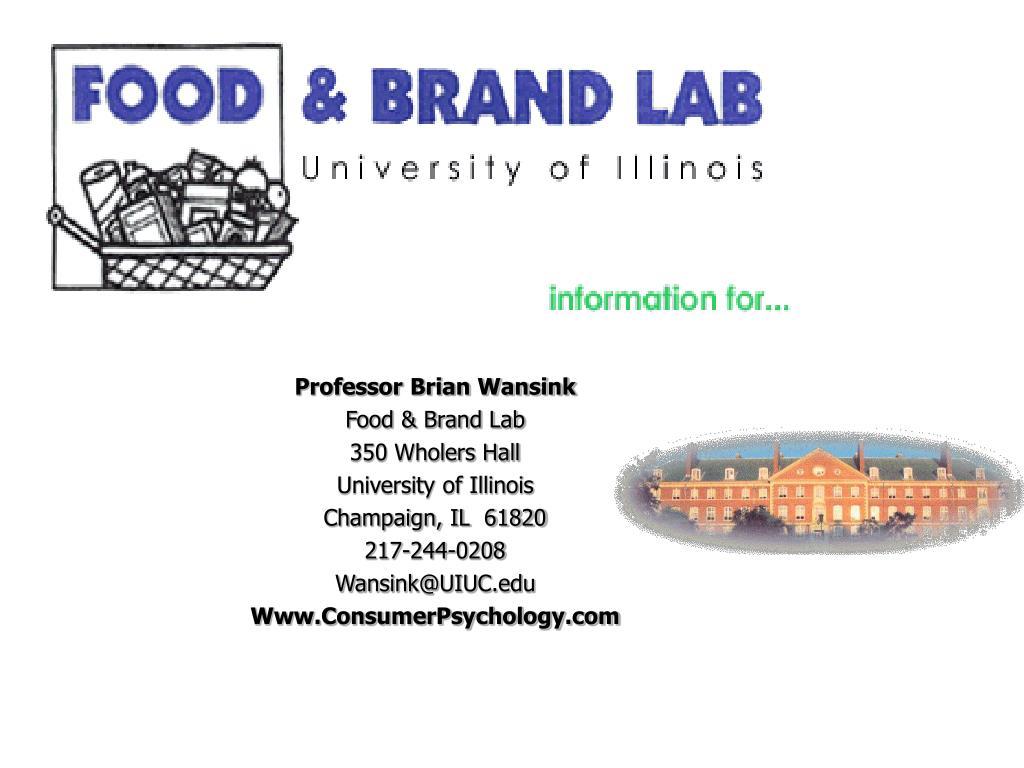 Professor Brian Wansink