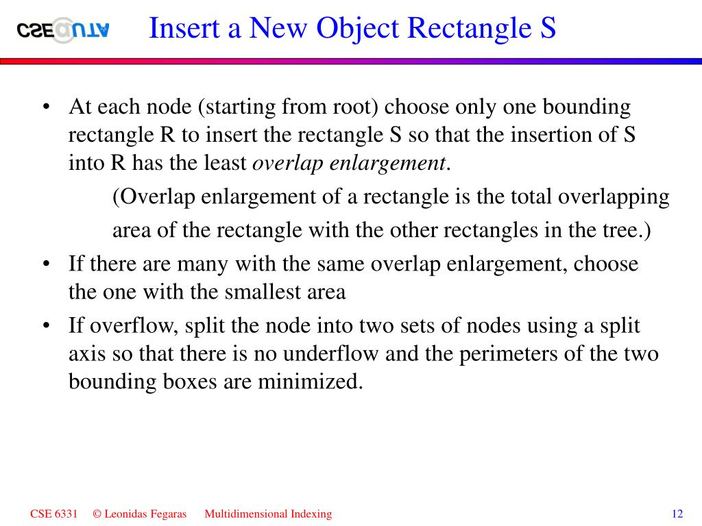 Insert a New Object Rectangle S