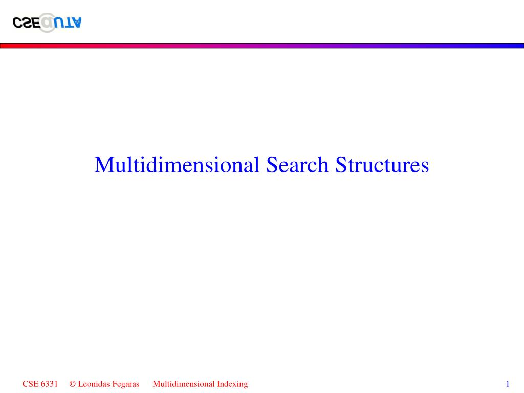 Multidimensional Search Structures
