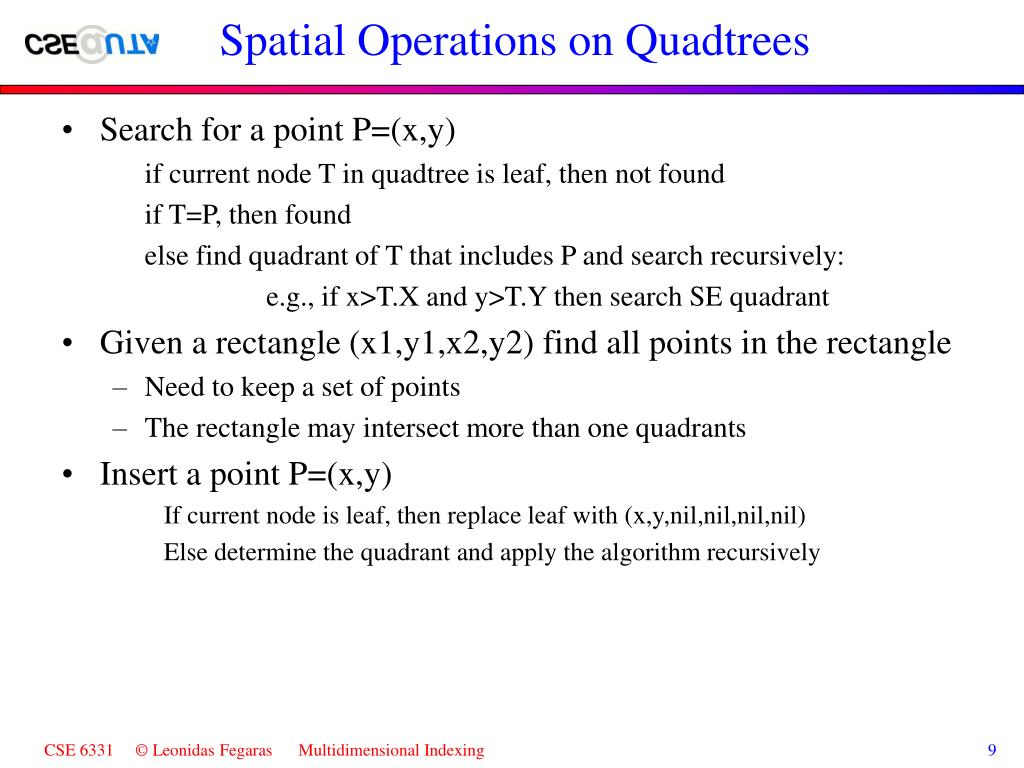 Spatial Operations on Quadtrees