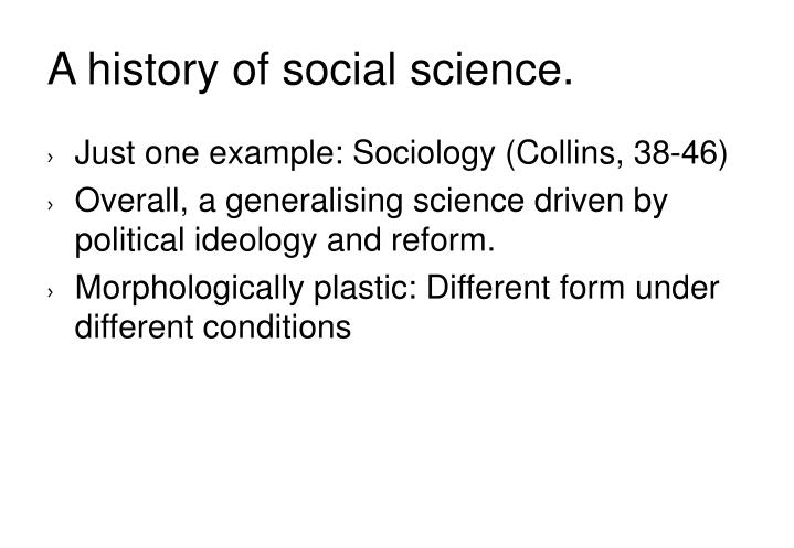 A history of social science.
