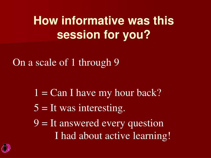 How informative was this session for you?