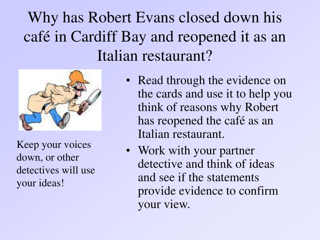 Why has Robert Evans closed down his café in Cardiff Bay and reopened it as an Italian restaurant?