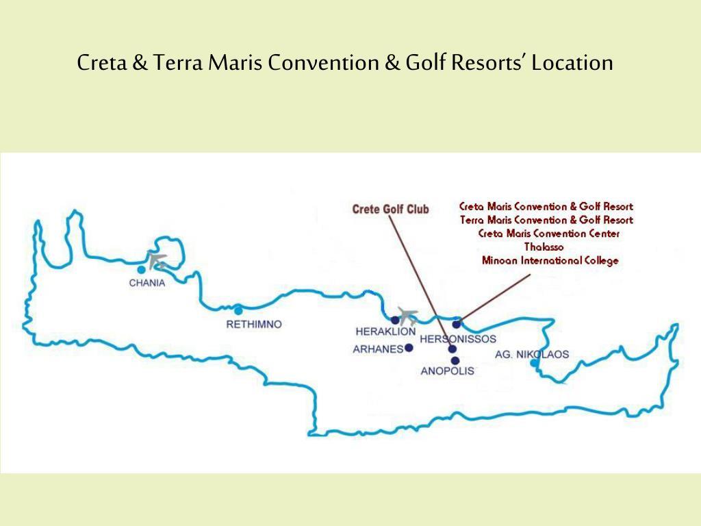 Creta & Terra Maris Convention & Golf Resorts' Location