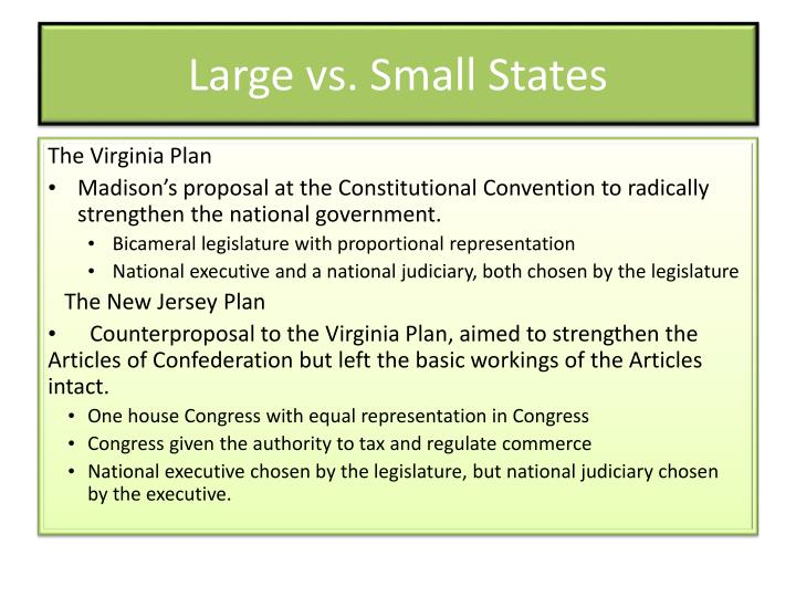 Large vs. Small States