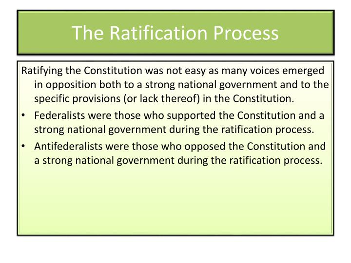 The Ratification Process