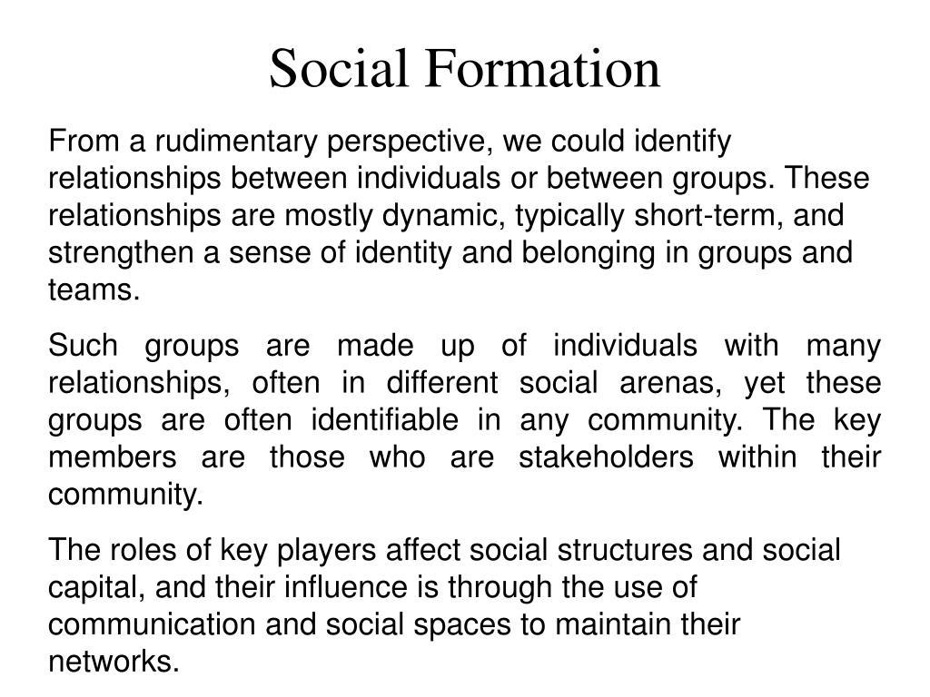 Social Formation