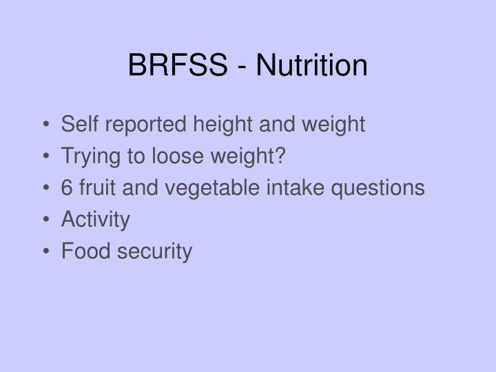 BRFSS - Nutrition