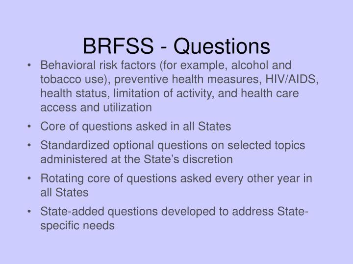 BRFSS - Questions