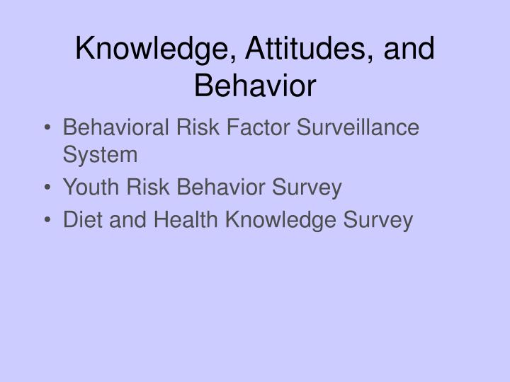 Knowledge, Attitudes, and Behavior
